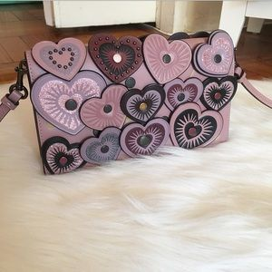 Coach Glitter Heart Applique Crossbody Bag